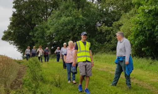 Group in walking to improve their quality of life and wellbeing